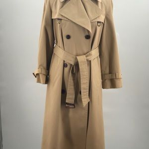 Vintage Etienne Aigner Double Breasted Tan Trench